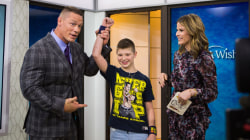 John Cena reunites with a child from the Make-A-Wish Foundation
