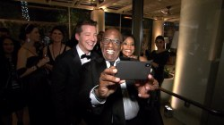 At the Golden Globes after-parties with Al Roker and Sheinelle Jones