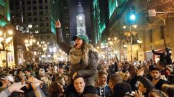Eagles fans flood streets in Philly for Super Bowl celebration