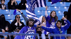 Saudi Arabia allows women to watch soccer inside stadium for first time
