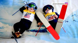 See these twin baby boys dressed in Olympic torch bearers' outfits