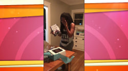 Watch writer Tomi Adeyemi's epic reaction to seeing first copy of her book