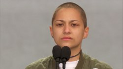 Emma Gonzalez leads emotional moment of silence during rally