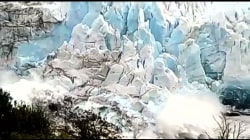 Glacier dramatically collapses in Argentina