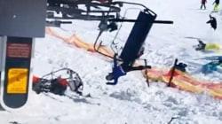 Terrifying ski lift malfunction caught on camera