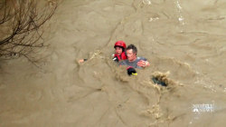 Powerful storm slams California bringing flooding, rescues and evacuations