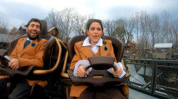 'Fur Face' and 'Donnadorable' travel through time on new rollercoaster