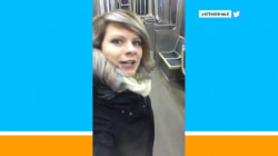 This woman sang about being alone on the subway (but she wasn't)