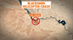 US military helicopter crashes in Iraq close to Syria border