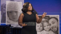 Broadway singer performs speak Everyone Has a Story song written by Kathie Lee Gifford