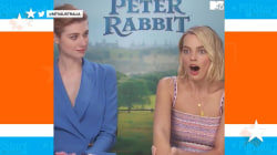 Margot Robbie gets interviewed by her brother