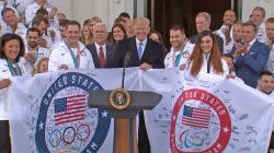 Watch Trump congratulate TEAM USA at the White House