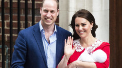 The Duke and Duchess of Cambridge show off new son