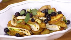 Make delicious yogurt-marinated chicken thighs, grilled potato salad