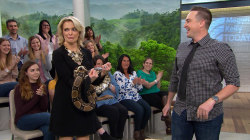 Sloth, giant rabbit and boa constrictor visit Megyn Kelly TODAY