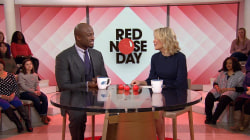 Akbar Gbaja Biamila competes on 'Ninja Warrior' for Red Nose Day