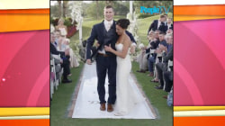 Watch once-paralyzed football player Chris Norton escort his bride