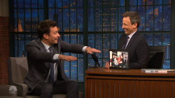 Jimmy Fallon and Seth Meyers revisit funny 'SNL' moment