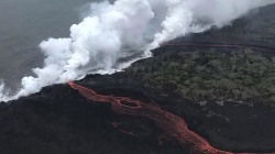 Hawaii volcano lava threatens power plant