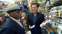 Royal wedding: Al Roker and Keir Simmons hunt for souvenirs