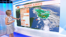 Subtropical storm Alberto could damped Memorial Day in the south