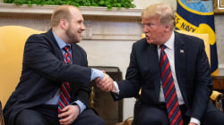 Freed American Josh Holt welcomed home by President Trump