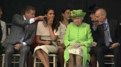 Meghan Markle attends first joint royal visit with the Queen