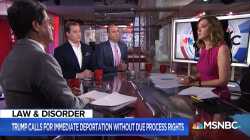 President Trump wants migrants to be deported without trial