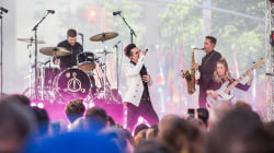 Panic! at the Disco performs hit single 'Say Amen (Saturday Night)' live on TODAY