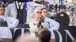 Watch Christina Aguilera sing 'Fall in Line' live on the TODAY plaza