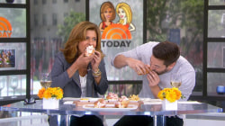 Hoda Kotb and Ryan Eggold celebrate National Lobster Day