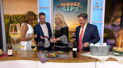 Hoda Kotb and Jason Kennedy sample summertime wines