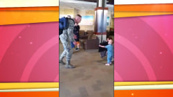 Watch US soldier surprise 2-year-old daughter in touching reunion