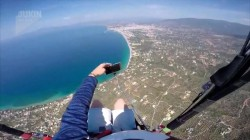 Paraglider loses his phone while trying to take epic selfie in midair