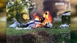 Astonishing video shows teen escaping deadly plane crash