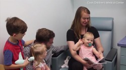 Watch as a 1-year-old who is deaf hears for first time