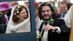 'Game of Thrones' stars Kit Harington and Rose Leslie marry in Scotland