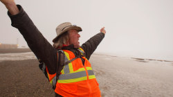 Holly 'Cargo' Harrison completes his 15,000-mile walk to Alaska