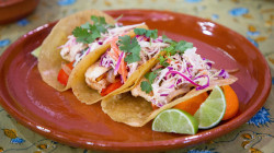 Get Daphne Oz's recipe for easy fish tacos and citrus sparklers