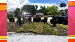 Firefighters, EMTs save man who suffered heart attack, help finish his yard work