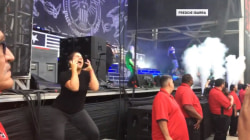 Watch sign language interpreter translate heavy metal concert