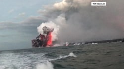 Flying 'lava bomb' hits Hawaii tour boat, injuring 23