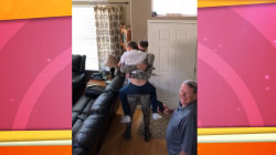 Watch as teen gets joyful surprise visit from older brother home from military duty