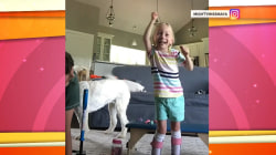 4-year-old with cerebral palsy takes first steps on her own in sweet video