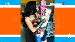 Gal Gadot stops by children's hospital in full Wonder Woman style