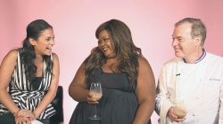 """Donna Off-Air: """"Nailed It!"""" host Nicole Byer and judge Jaques Torres"""