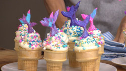 Chef Brandi Milloy makes delicious mini blueberry tarts and mermaid cupcakes