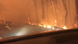 Father and son narrowly escape after getting caught in Montana wildfire