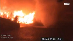 Video shows 'fire tornado' engulfing California firefighter