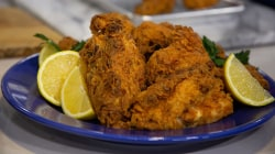 Daniel Breaker of 'Hamilton' makes tasty tea-brined fried chicken